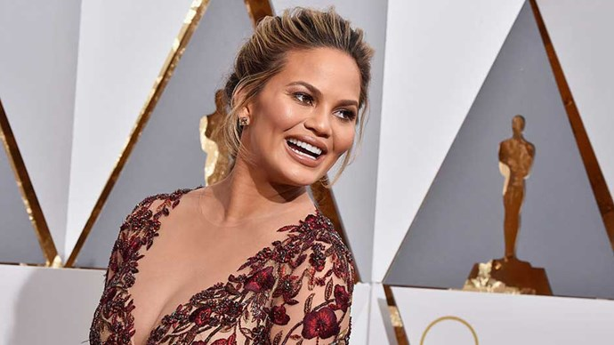 Chrissy Teigen at the 2016 Oscars.