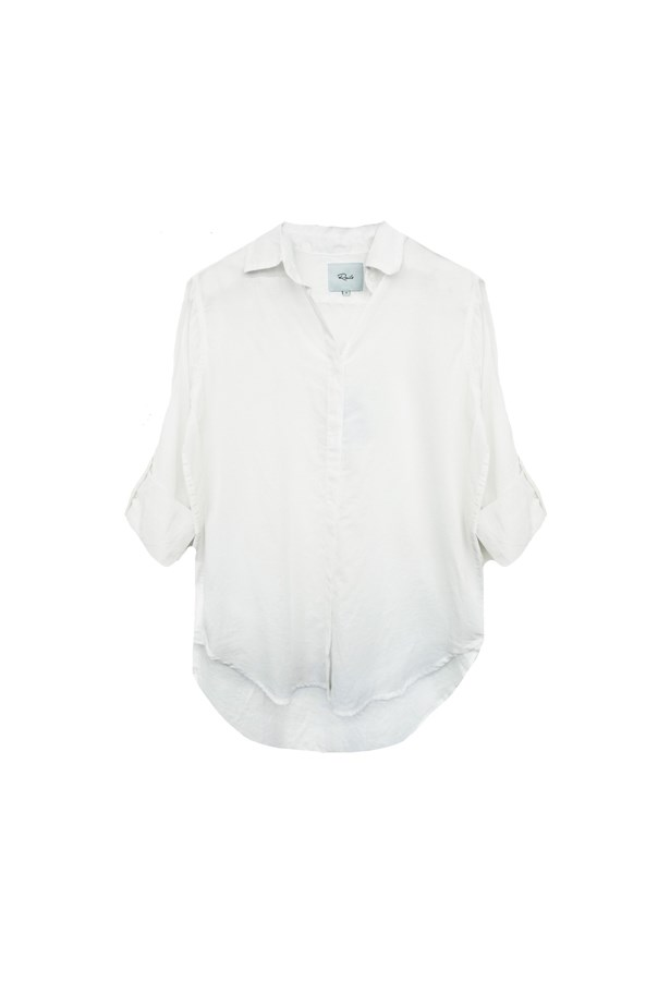 "Shirt, $187, <a href=""http://www.railsclothing.com/collections/women/products/ella-white"">Rails</a>."
