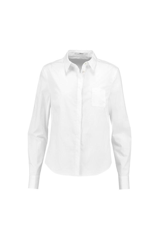 "Shirt, $173, <a href=""https://www.theoutnet.com/en-AU/product/J-Brand/Louise-cotton-blend-poplin-shirt/715234"">J Brand</a>."