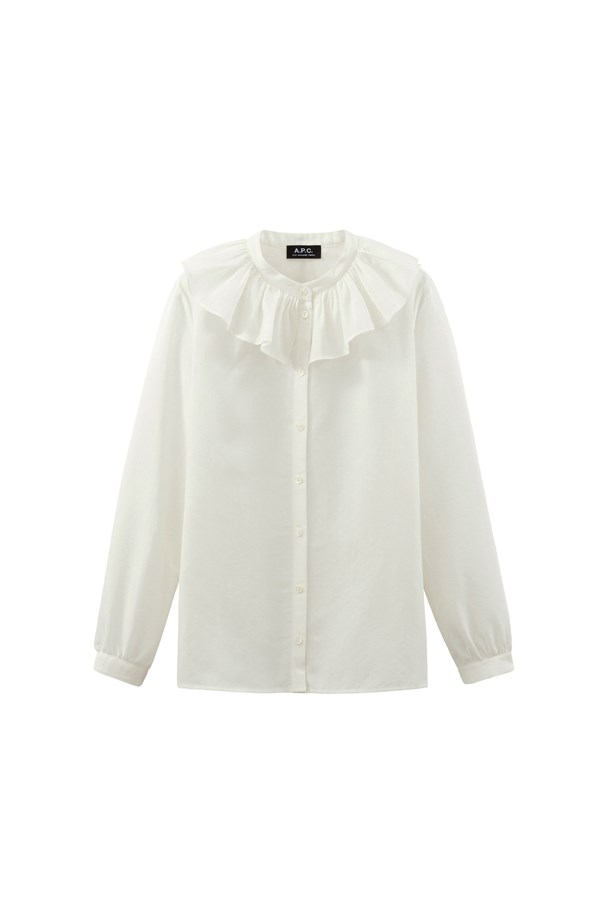 "Shirt, $309, <a href=""http://www.apc.fr/wwuk/women/ready-to-wear/blouses-shirts/sixtine-shirt-mdaab-f12234.html#Off white&12"">A.P.C.</a>"