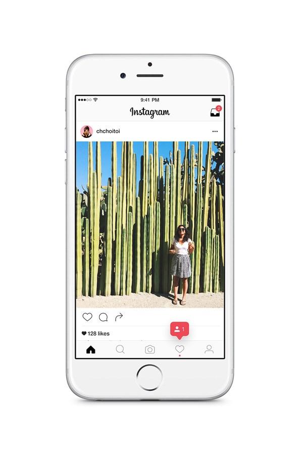 Instagram's new update.