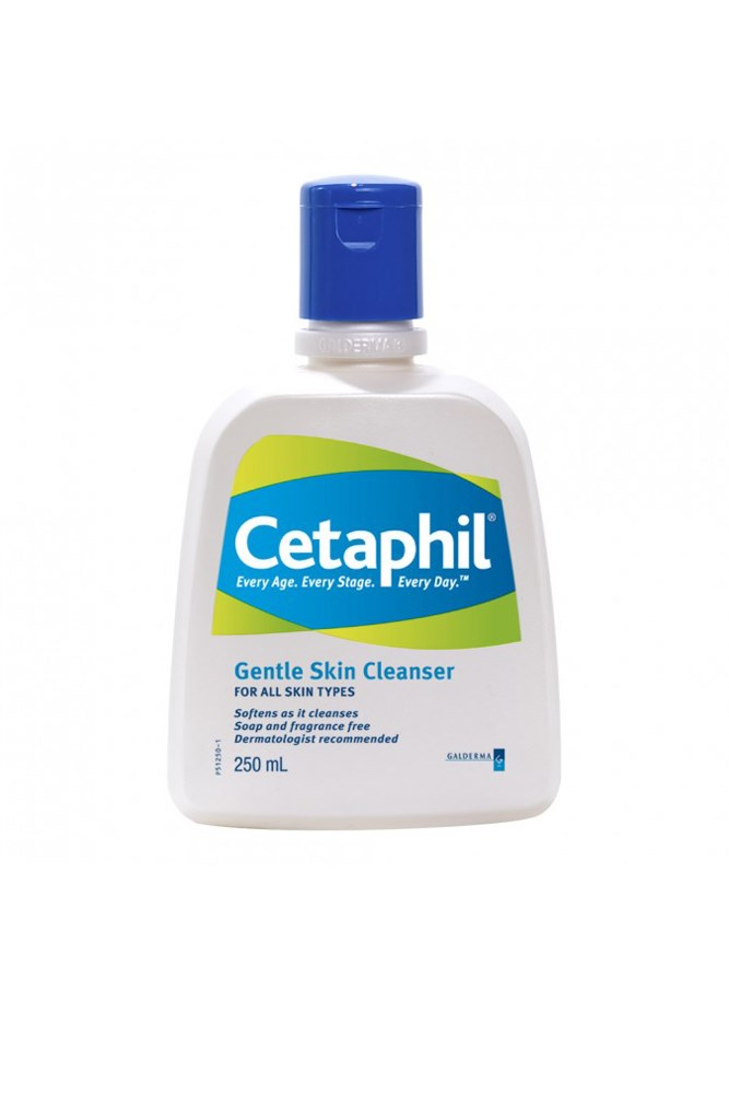 "<a href=""https://www.priceline.com.au/brand/cetaphil/cetaphil-gentle-skin-cleanser-250-ml"">Cleanser, $10.49, Cetaphil</a> <br><br> ""The only cleanser anyone ever needs."" — Justine Cullen, editor-in-chief"
