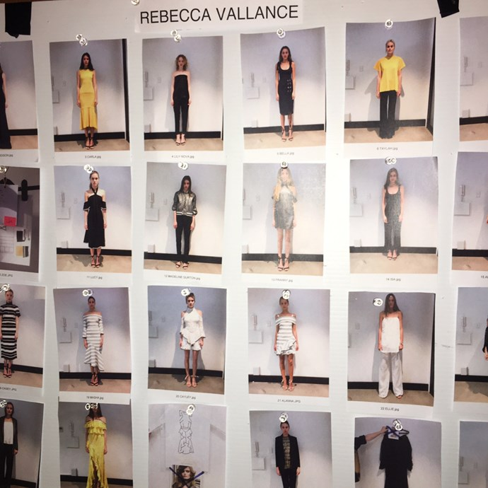<strong>Day two</strong><br><br> Backstage at Rebecca Valance.