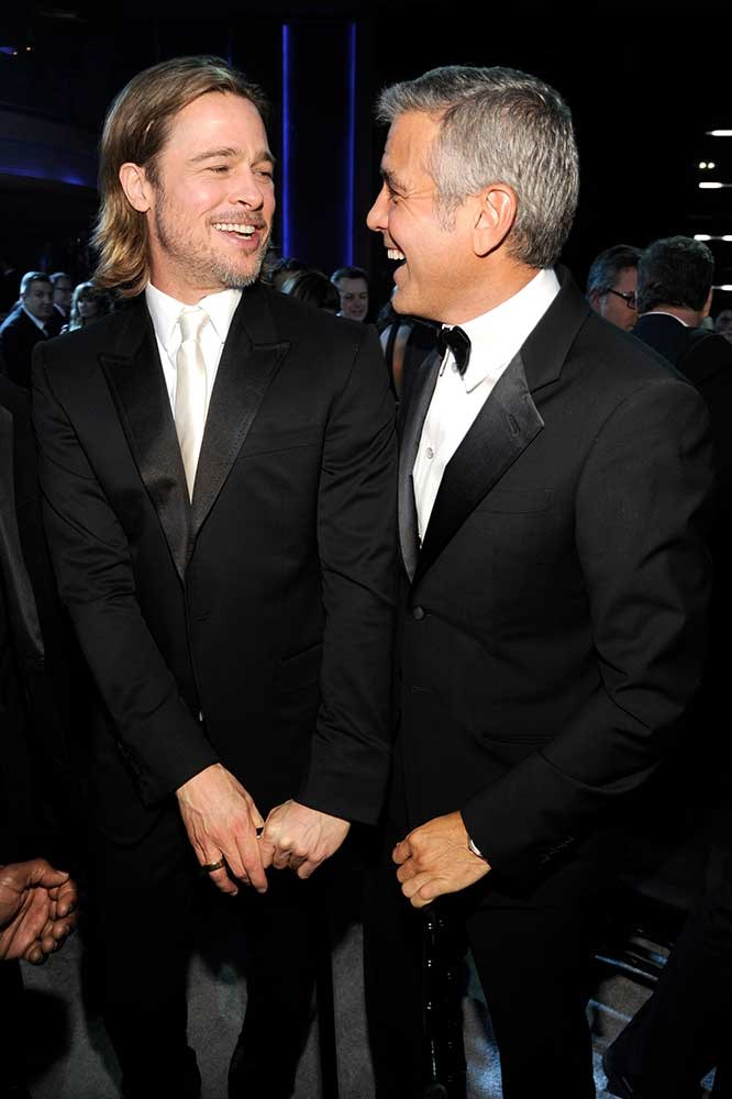 </p><p>Brad Pitt and George Clooney.