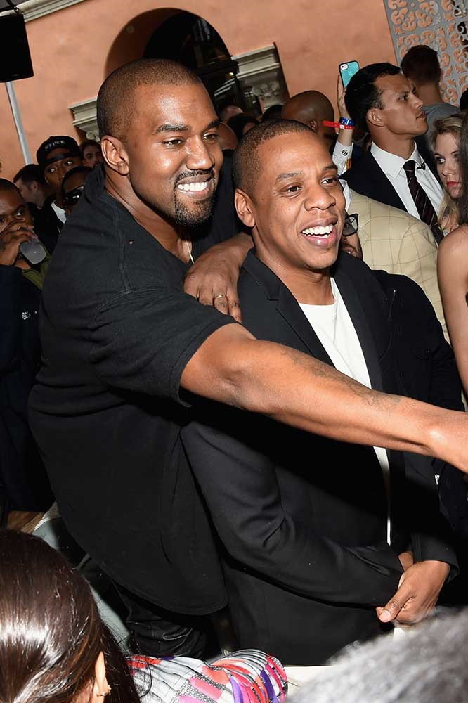 </p><p>Kanye West and Jay Z.