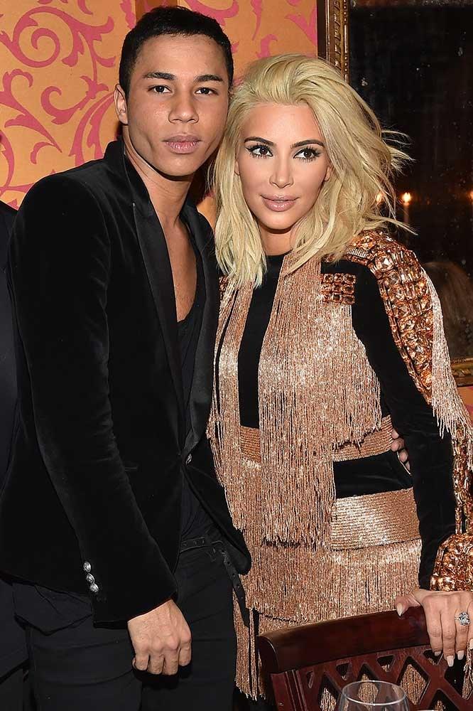 Olivier Rousteing and Kim Kardashian.
