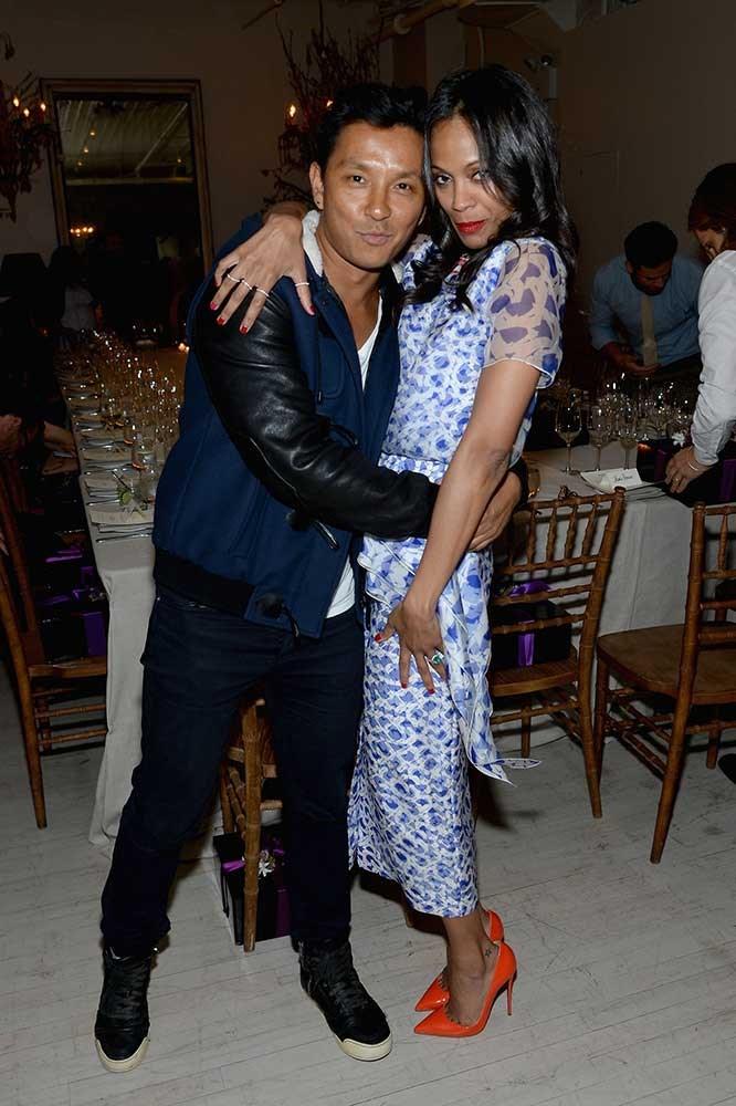 </p><p>Prabal Gurung and Zoe Saldana.