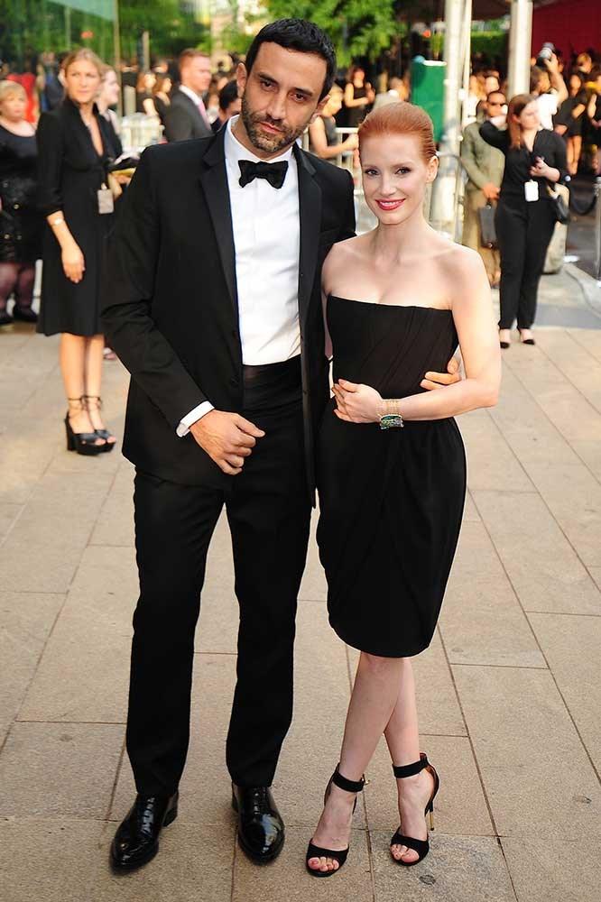 </p><p>Ricardo Tisci and Jessica Chastain.