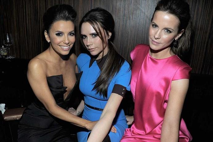 </p><p>Victoria Beckham, Eva Longoria and Kate Beckinsdale.