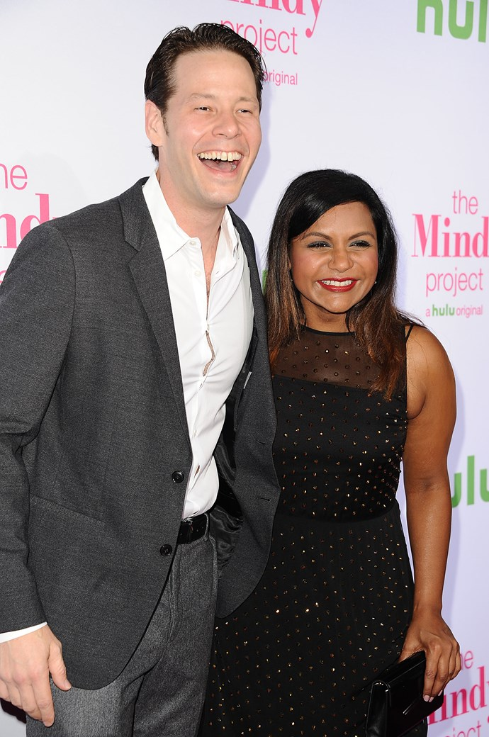 The Mindy Project stars Ike Barinholtz and Mindy Kaling attend the Hulu season four premiere