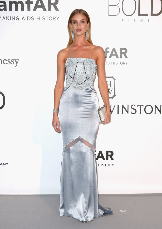 Rosie Huntington-Whiteley at the 2016 amfAR Gala.