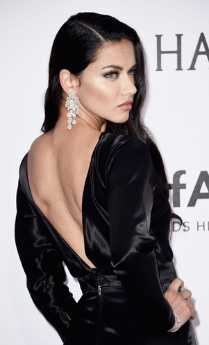 Adriana Lima at the 2016 amfAR Gala.