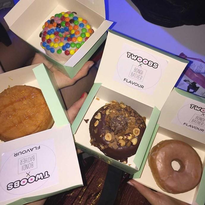Bondi Bather gave us doughnuts! Happy face.</p>