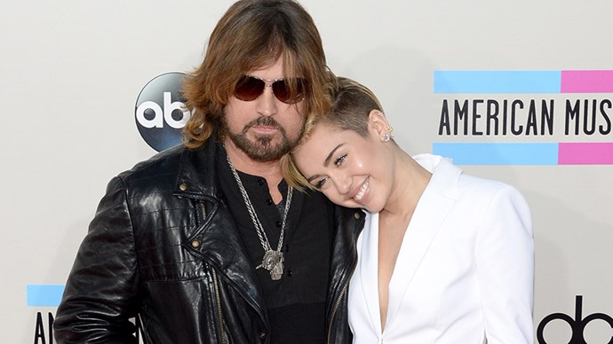 Billy Ray Cyrus and Miley.
