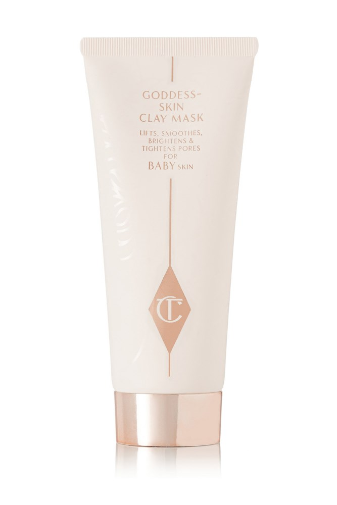 "For a celeb-approved fix.<br><br> <a href=""https://www.net-a-porter.com/au/en/product/595882/Charlotte_Tilbury/goddess-skin-clay-mask-75ml"">Goddess Skin Clay Mask, $88 for 75ml, Charlotte Tilbury</a>"