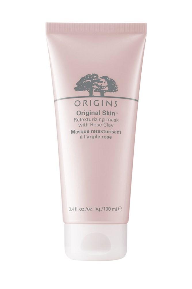 "For an off-the-charts glow.<br><br> <a href=""http://mecca.com.au/origins/original-skin-rose-clay-mask/I-021804.html"">Original Skin Rose Clay Mask, $39 for 100ml, Origins</a>"