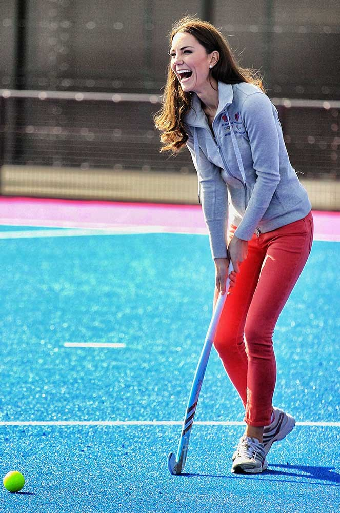 </p><p>When she unleashed her skills on the hockey field.