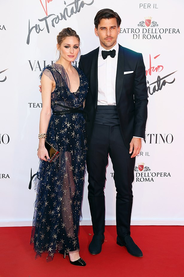 Olivia took her husband out for a casual date night to the Opera in Rome last night, where she donned some starry Valentino.