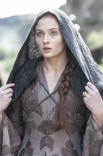 Sophie Turner in Game of Thrones.