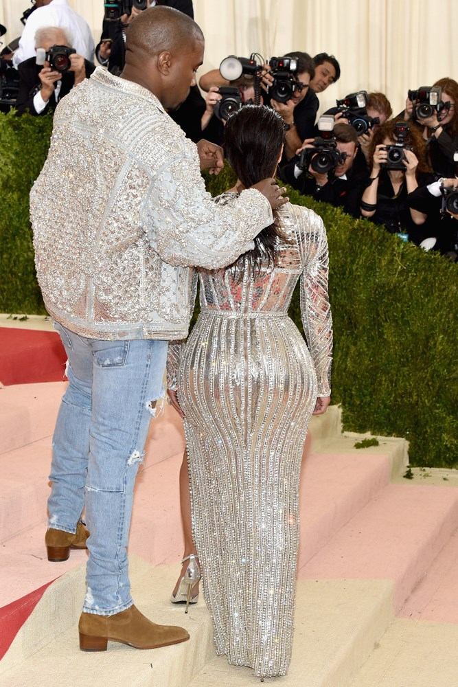 Earlier this month at the Met Gala when he was a very efficient stylist-cum-hairdresser.