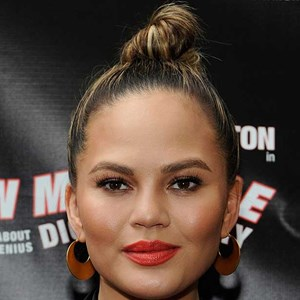 Chrissy Teigen arrives at The Opening Night of 'Turn Me Loose' at The Westside Theatre in New York City