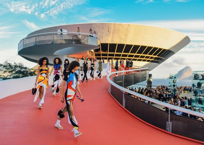 "<strong>Models wore colourful, Rio-inspired looks</strong> <br><br> Instagram: <a href=""https://www.instagram.com/louisvuitton/"">@louisvuitton</a>"