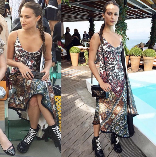 "<strong>Louis Vuitton's latest It girl Alicia Vikander attended</strong> <br><br> Instagram: <a href=""https://www.instagram.com/p/BF90MNFGqlG/"">@womanfocus</a>"