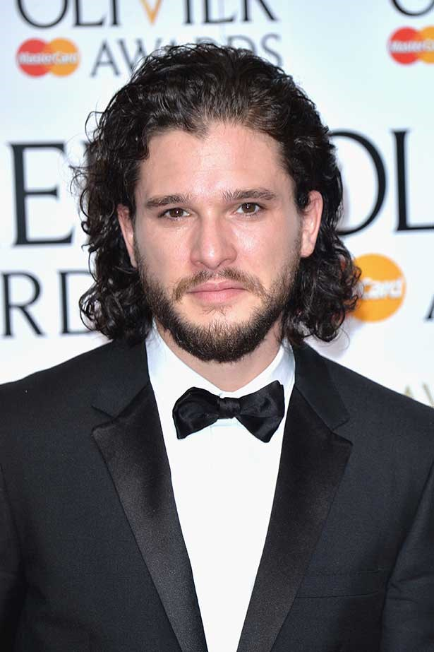 Actor Kit Harrington poses in the winners room at The Olivier Awards at The Royal Opera House on April 3, 2016 in London, England.