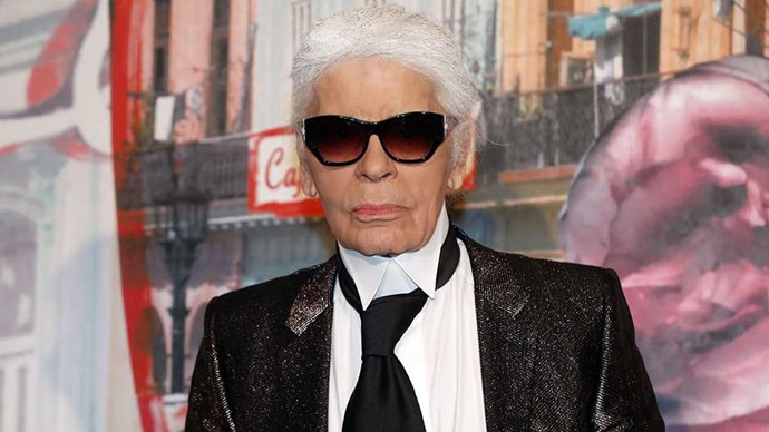 Fashion designer Karl Lagerfield arrives for the annual Rose Ball at the Monte-Carlo Sporting Club in Monaco, on March 19, 2016.