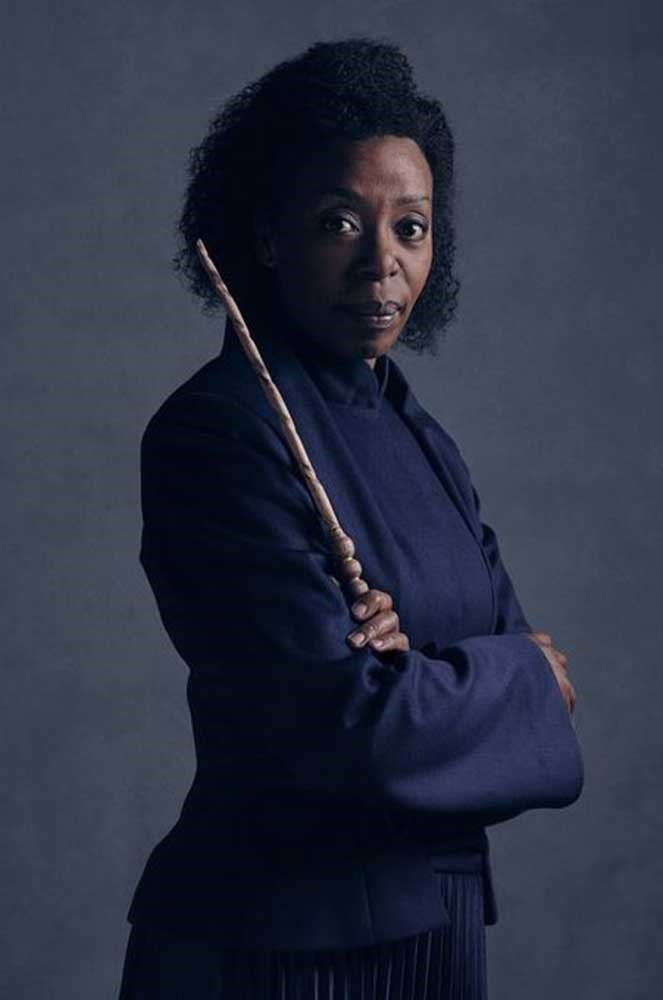 Noma Dumezweni as Hermione Granger in a theater production of Harry Potter and the Cursed Child