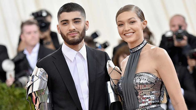 ayn Malik and Gigi Hadid attend the 'Manus x Machina: Fashion In An Age Of Technology' Costume Institute Gala at Metropolitan Museum of Art on May 2, 2016 in New York City.