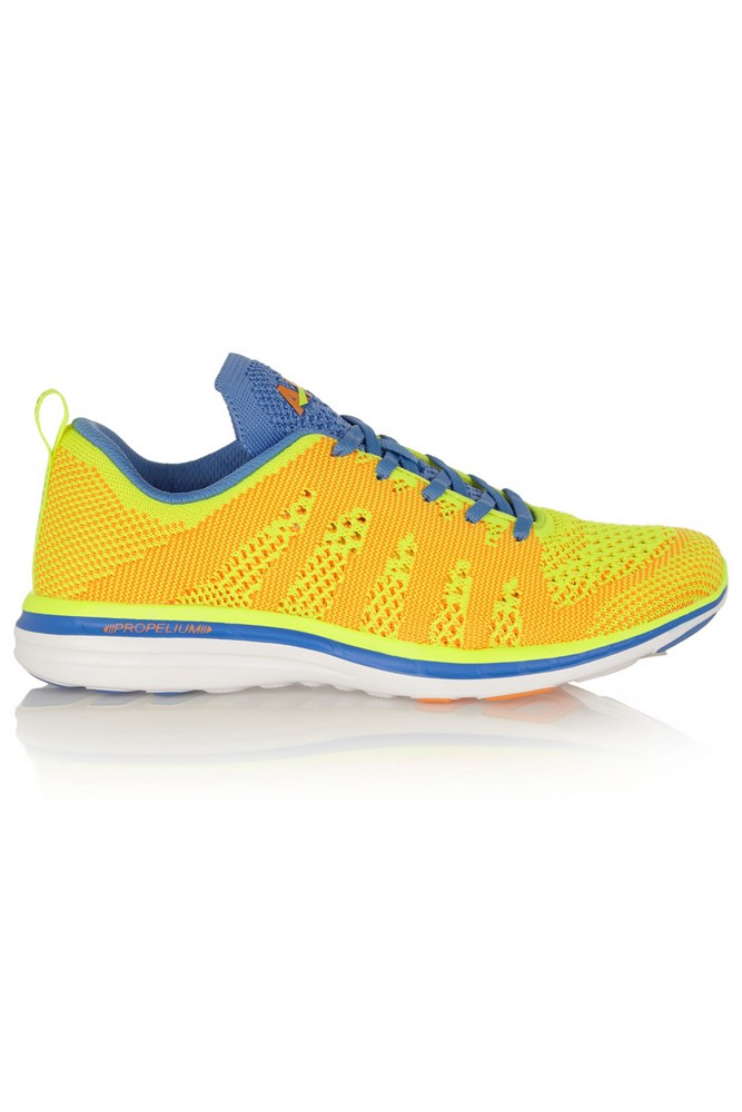 """<strong>Colour pop</strong><br><br> <a href=""""https://www.net-a-porter.com/au/en/product/650549/Athletic_Propulsion_Labs/techloom-pro-mesh-sneakers"""">Sneakers, $209, Athletic Propulsion Labs</a>"""