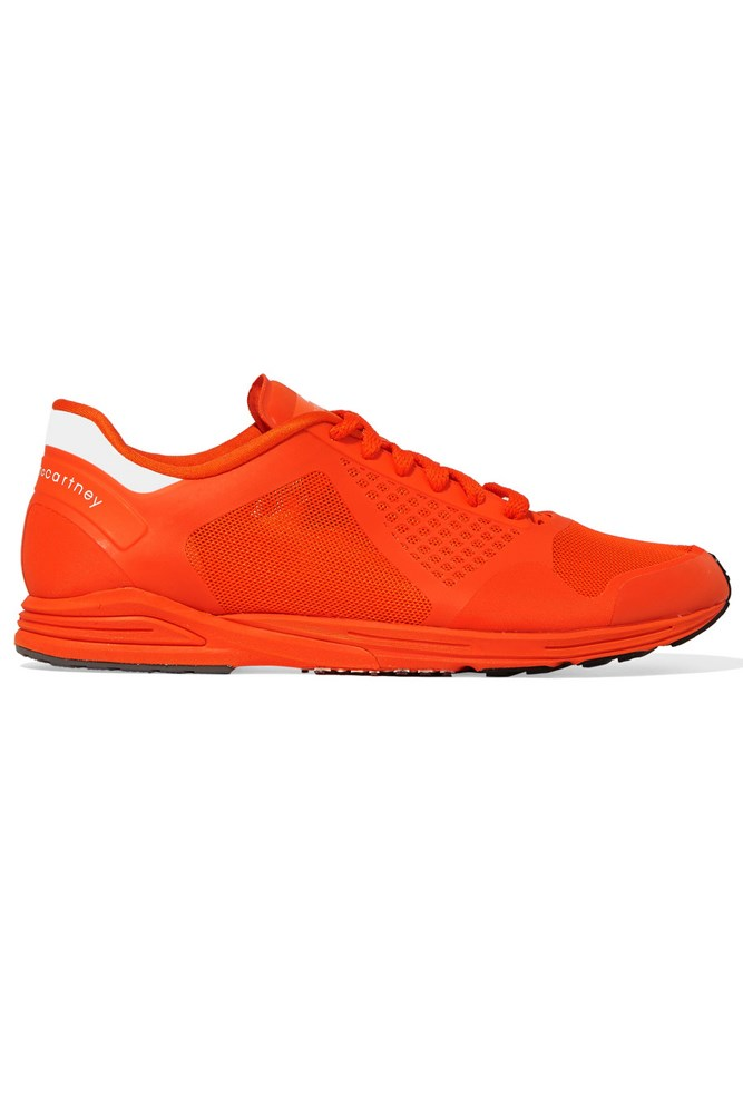 """<strong>Colour pop</strong><br><br> <a href=""""https://www.net-a-porter.com/au/en/product/652745/adidas_by_stella_mccartney/adizero-takumi-rubber-and-mesh-sneakers"""">Sneakers, $318, Adidas By Stella McCartney</a>"""
