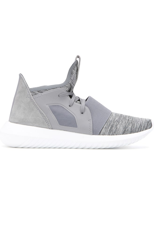 """<strong>Neutral territory</strong><br><br> <a href=""""http://www.mytheresa.com/en-au/tubular-defiant-sneakers-591651.html?catref=category"""">Sneakers, $179, Adidas</a>"""