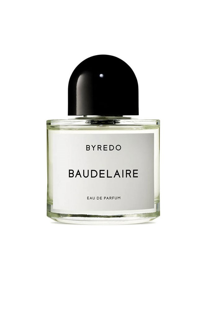 """""""I alternate between this and Tom Ford's Patchouli Absolu."""" – Emma Kalfus, fashion editor <br><br> <a href=""""http://mecca.com.au/byredo/baudelaire-edp/V-008258.html"""">Baudelaire EDP, $167 for 50ml, Byredo</a>"""