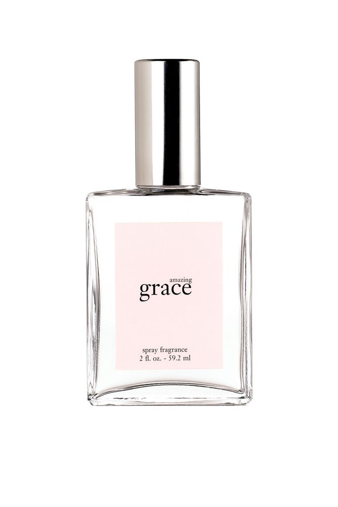 """""""I'm using Philosophy's Amazing Grace. It's got a clean, shower-fresh vibe about it that I love."""" – Jennifer Kang, acting deputy chief sub-editor<br><br> <a href=""""http://mecca.com.au/philosophy/amazing-grace-fragrance/V-001108.html"""">Amazing Grace Fragrance, $60 for 60ml, Philosophy</a>"""