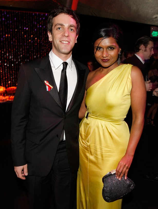 BJ Novak and Mindy Kaling.