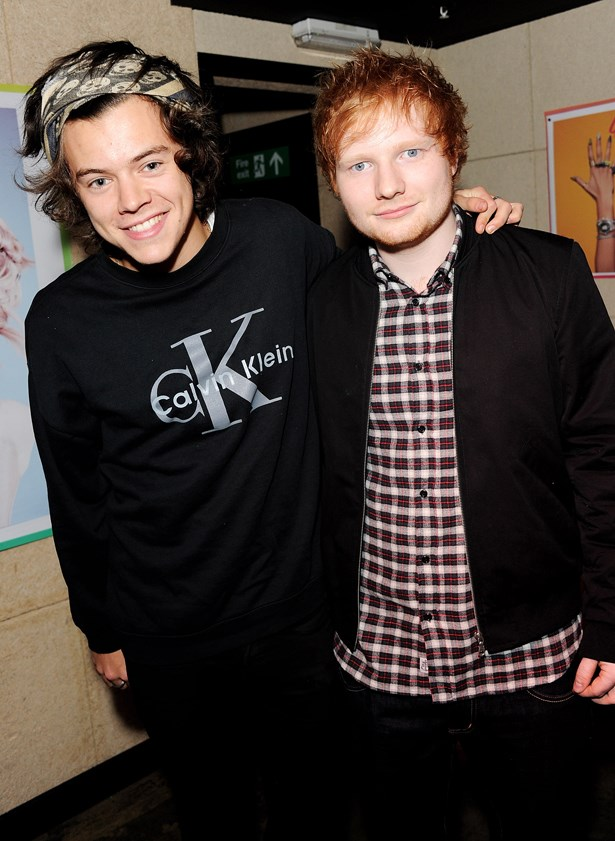 Harry Styles and Ed Sheeran.
