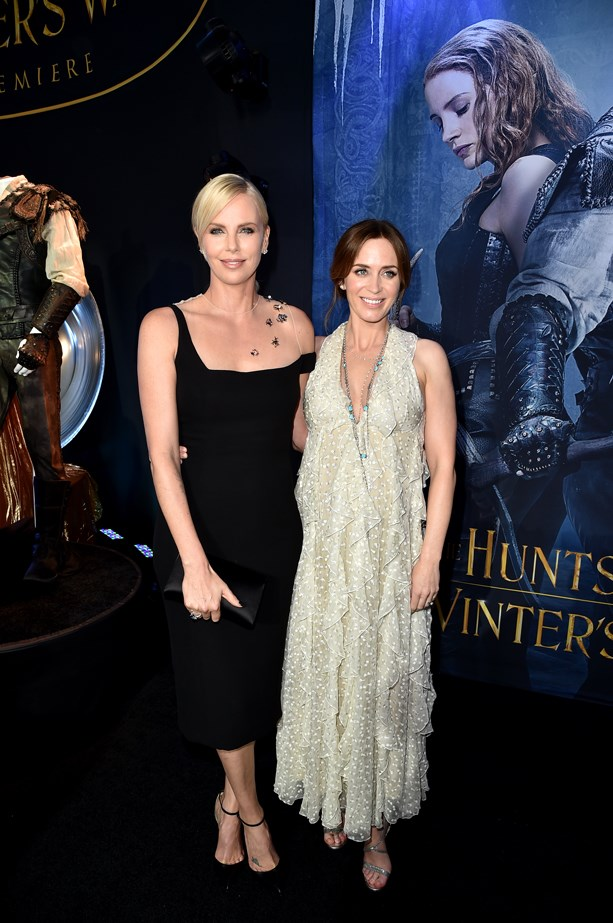 Charlize Theron and Emily Blunt.