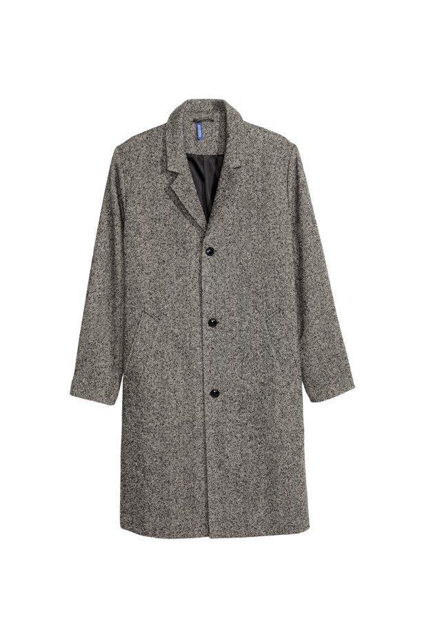 "<P> THE HOUSECOAT<p> <p> Classic and essential, a big grey housecoat will suit anyone, while keeping things low key and trendy. Boots and jeans work well with this coat, and you should be sure to have a heavy knit jumper to hand to really fill it out.<p> <p> Coat, $90, <a href=""http://www.hm.com/au/product/37725?article=37725-A"">H&M</a>."