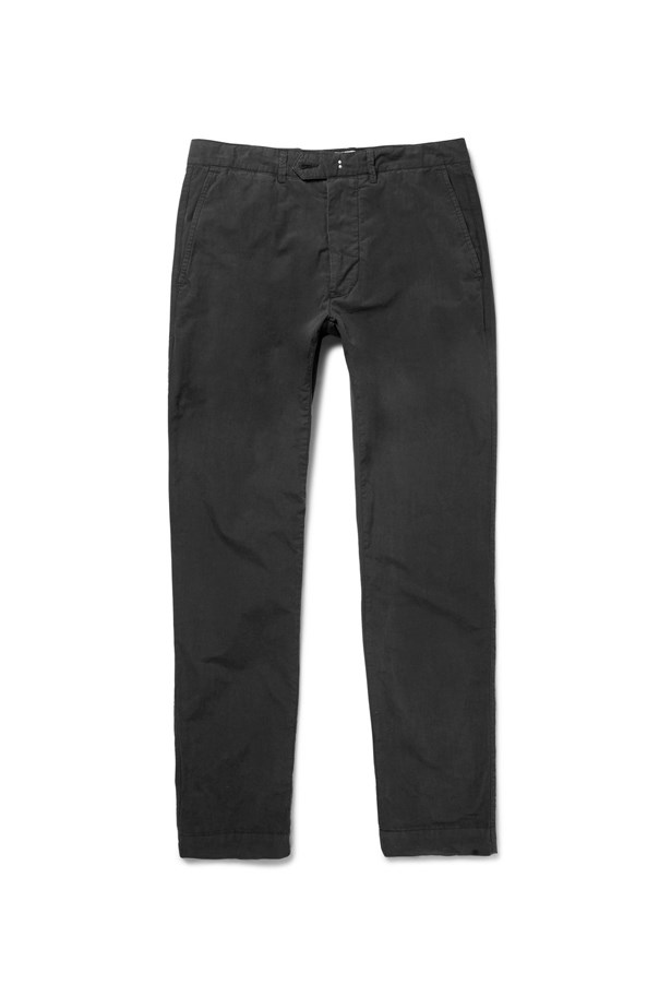 "<P> THE CHINO<p> <p> Chinos are the ultimate all rounder. Cuff them at the ankle and match them with a white shirt (tucked in or out) and flats to keep yourself presentable at work, at a party or even just staying comfy at home.<p> <p> Slim fit chinos, $220, Officine Generale at <a href=""http://www.mrporter.com/en-au/mens/officine_generale/slim-fit-cotton-twill-chinos/659879?ppv=2#"">mrporter.com</a>"