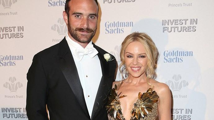 Kylie Minogue and Joshua Sasse.