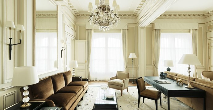 Coco Chanel Suite at the Ritz Paris Hotel.