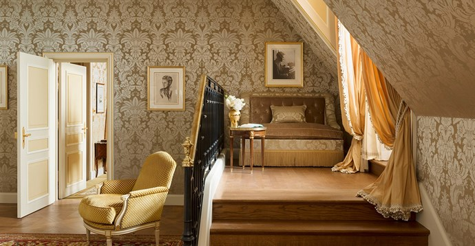 "The <a href=""http://www.ritzparis.com/en-GB/luxury-hotel-paris/prestige-suites/scott-fitzgerald-suite"">Suite F. Scott Fitzgerald</a>, which the luxury hotel created ""in homage to the most elegant globetrotter of the Années Folles [Golden Twenties]."" It boasts chic travel souvenirs, a day bed fit for reading, and an extensive library (natch). <em>The Great Gatsby</em> author's namesake suite will set you back a little over $15,000 (€10,000) a night."