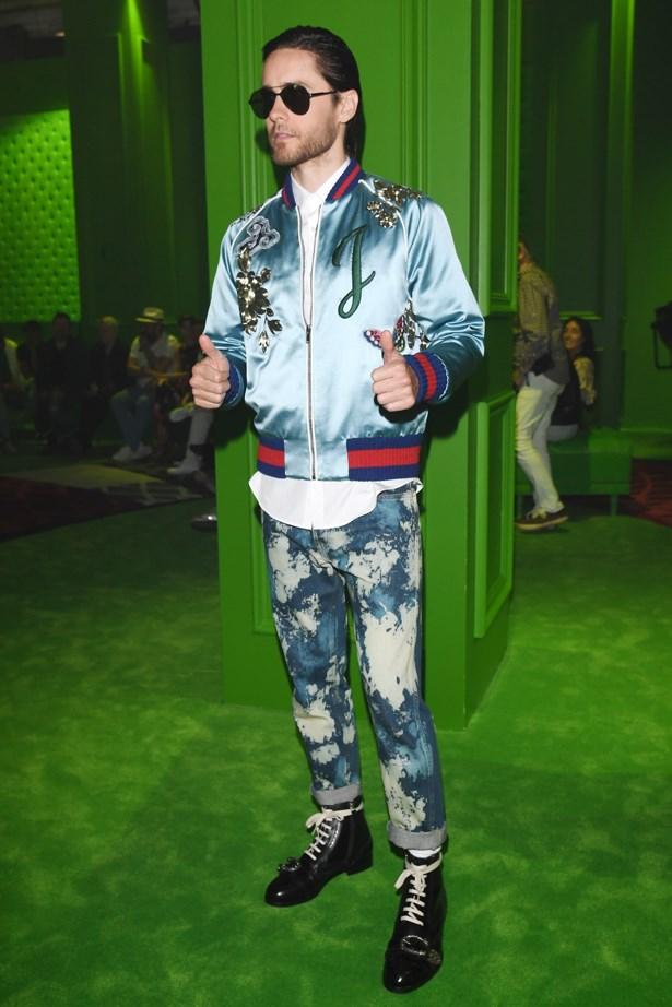 Jared Leto at Gucci.