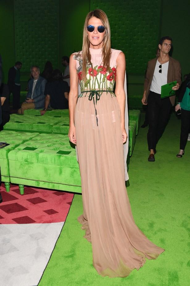 Anna Dello Russo at Gucci.