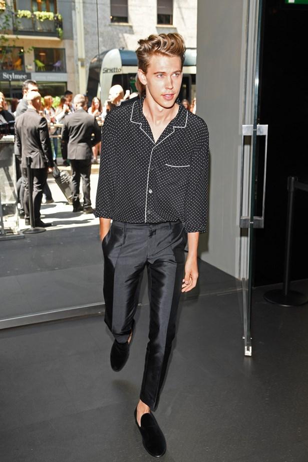 Austin Butler at Dolce and Gabbana.