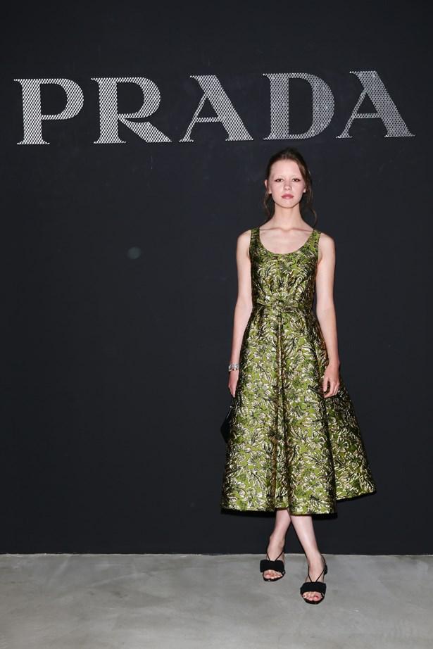 Mia Goth at Prada.