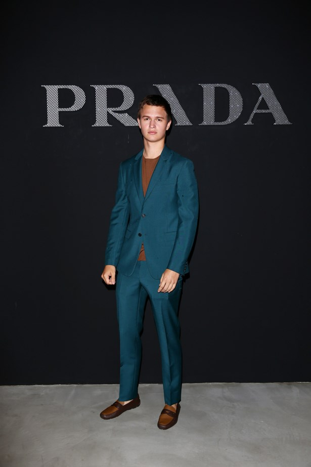 Ansel Elgort at Prada.