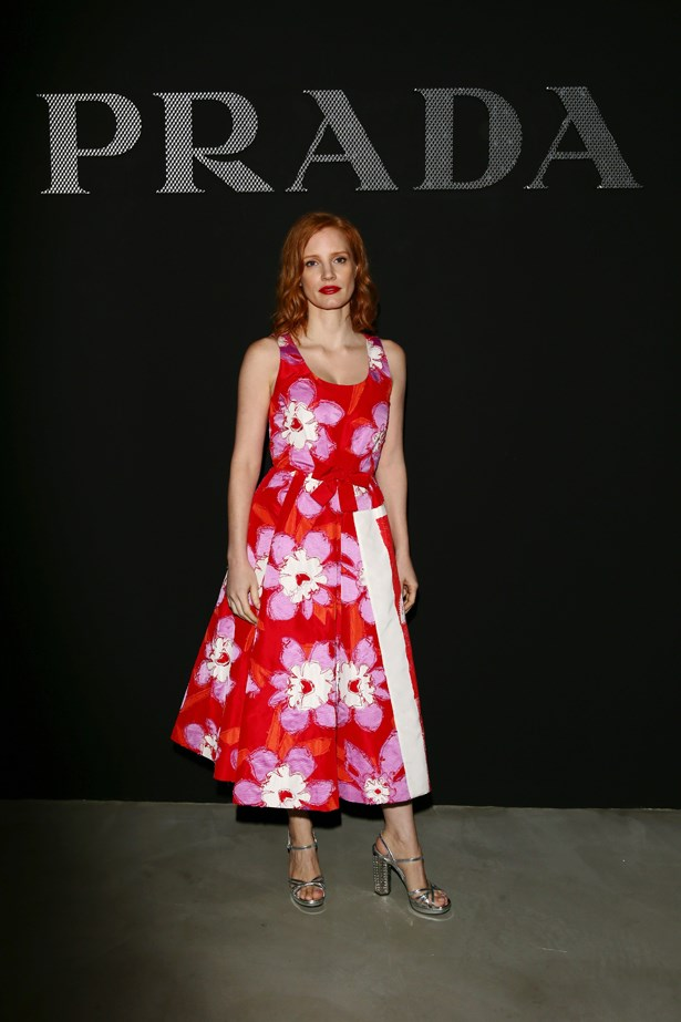 Jessica Chastain at Prada.